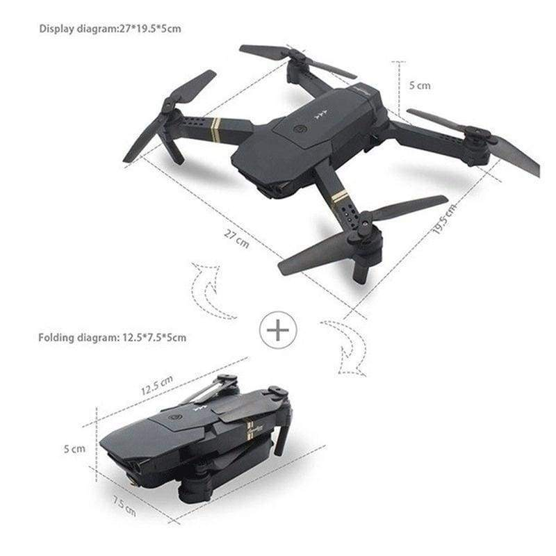 Future Limited Edition Upgrade Mavic Pro Clone Coming! Professional  4K 1080P 720P HD Camera Folding Drone Wireless Wifi 360 Degree Roll FPV Selfie RC Drone Quadcopters RTF with Real Time Video Free 3 Batteries and Storage Bag