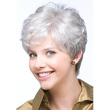 2021 New Lace Front Wigs Silver Hair Color Purple Human Hair Best Men'S Grey Hair Treatment