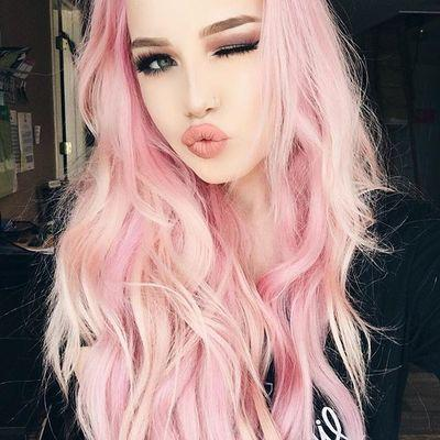 Lace Frontal Wigs Pink Chocolate Pink Hair For Girl