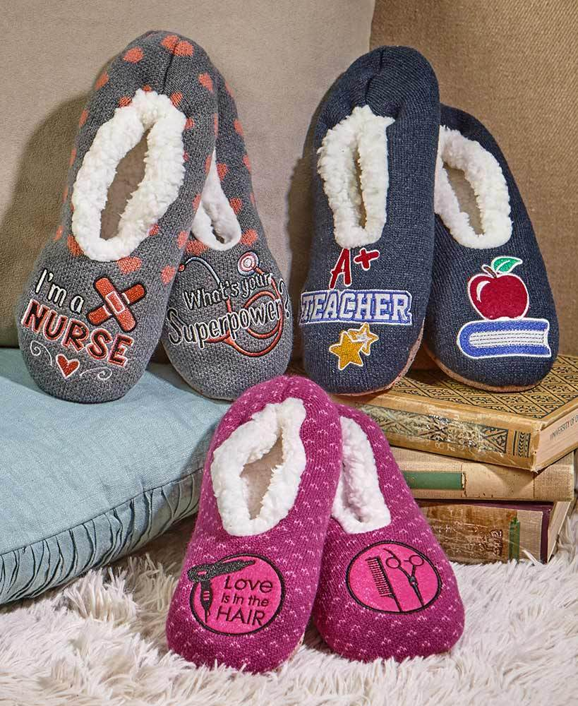 Sherpa-Lined Occupational Slippers