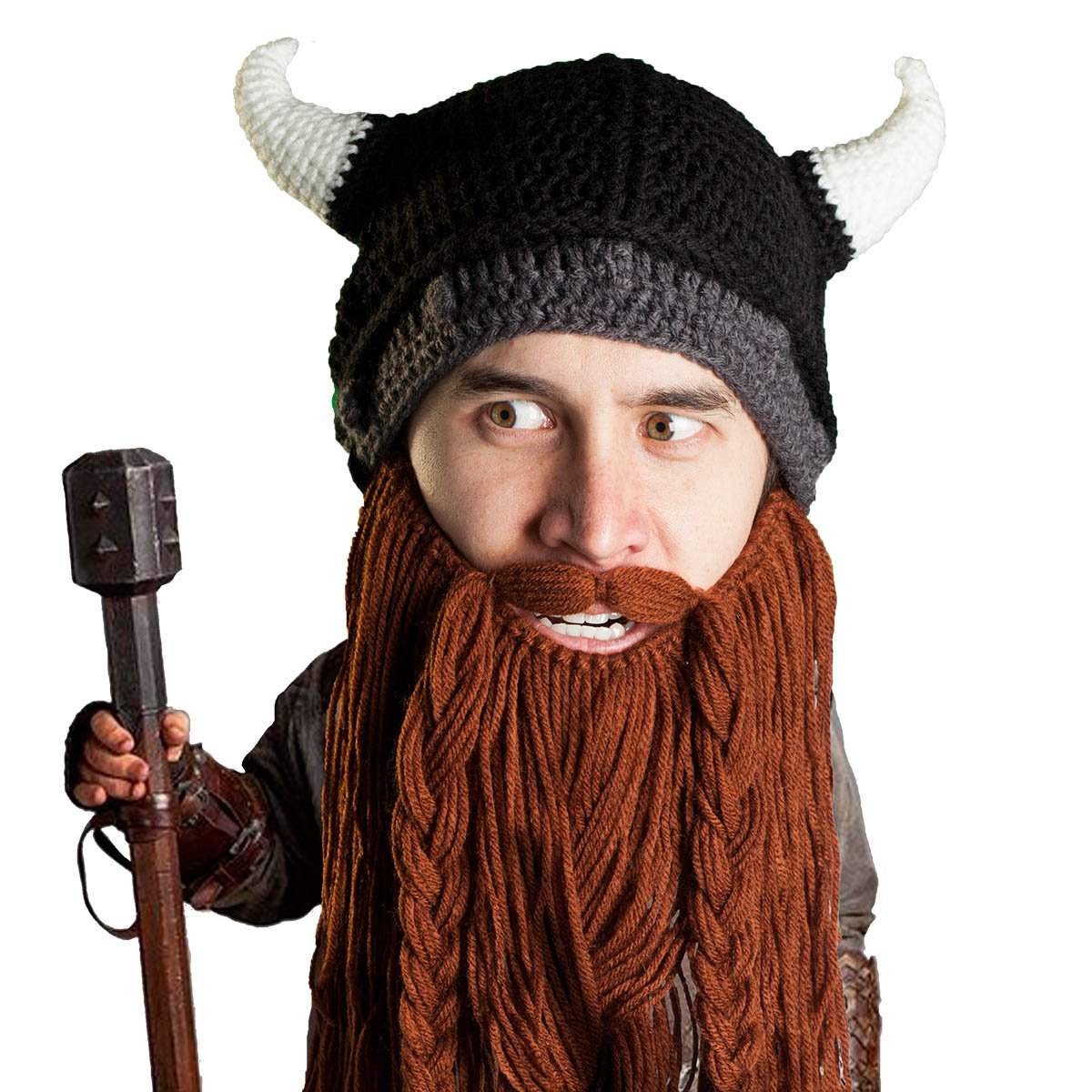 Beard Head Viking Pillager Helmet