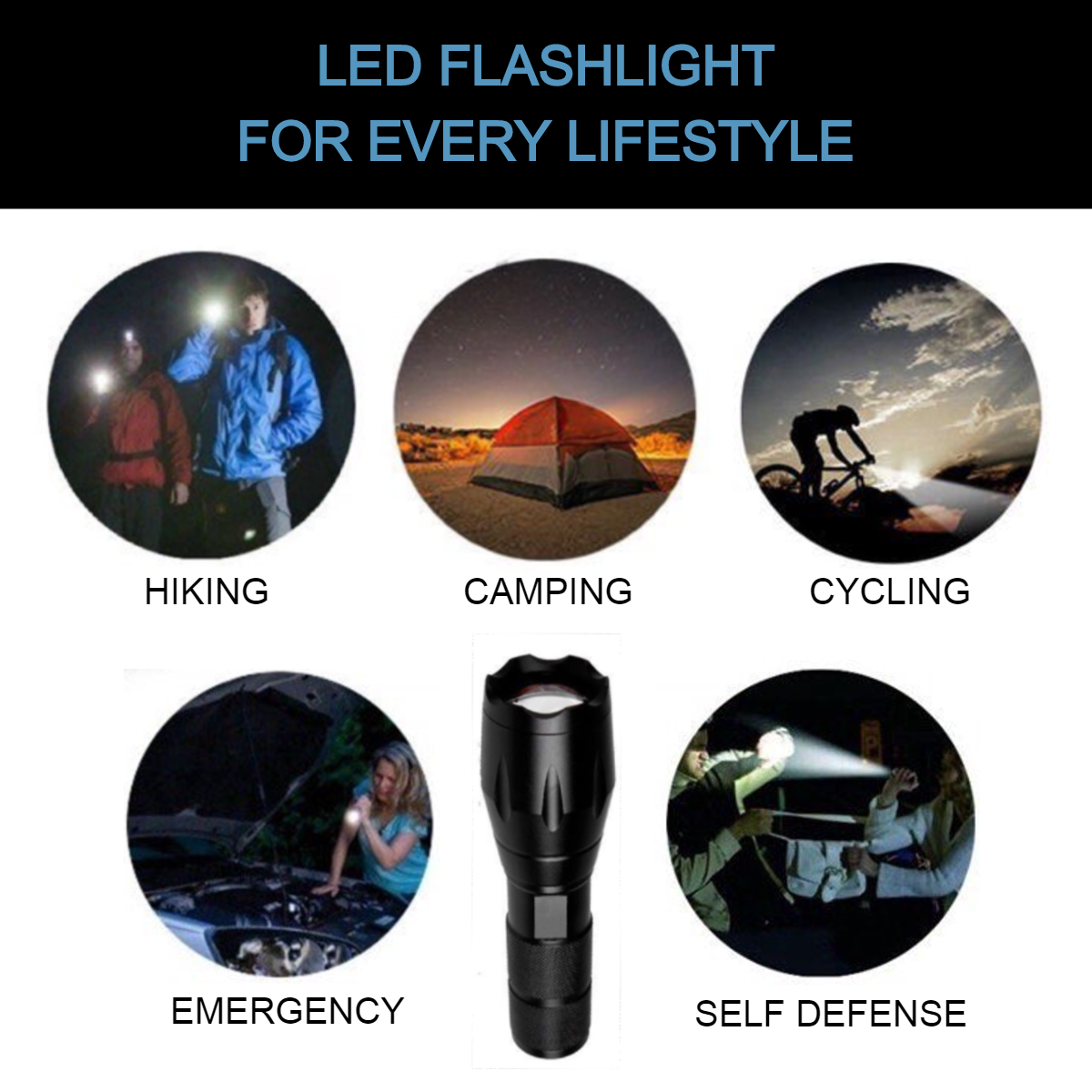 OUTDOORS CRAVE TACTICAL FLASHLIGHT