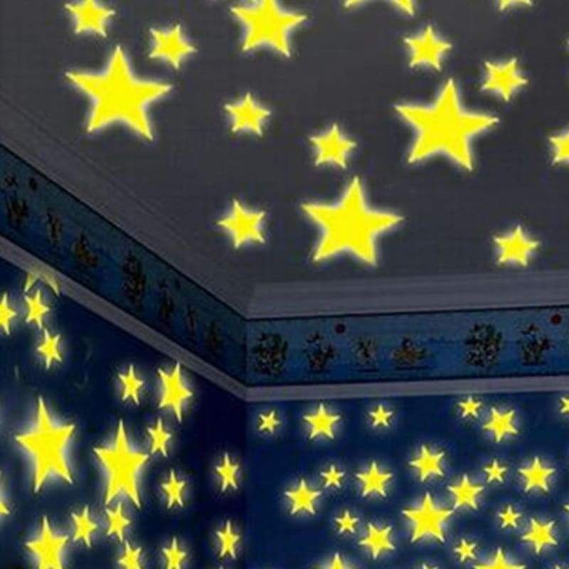 Glow star 100pc kids bedroom fluorescent glow in the dark
