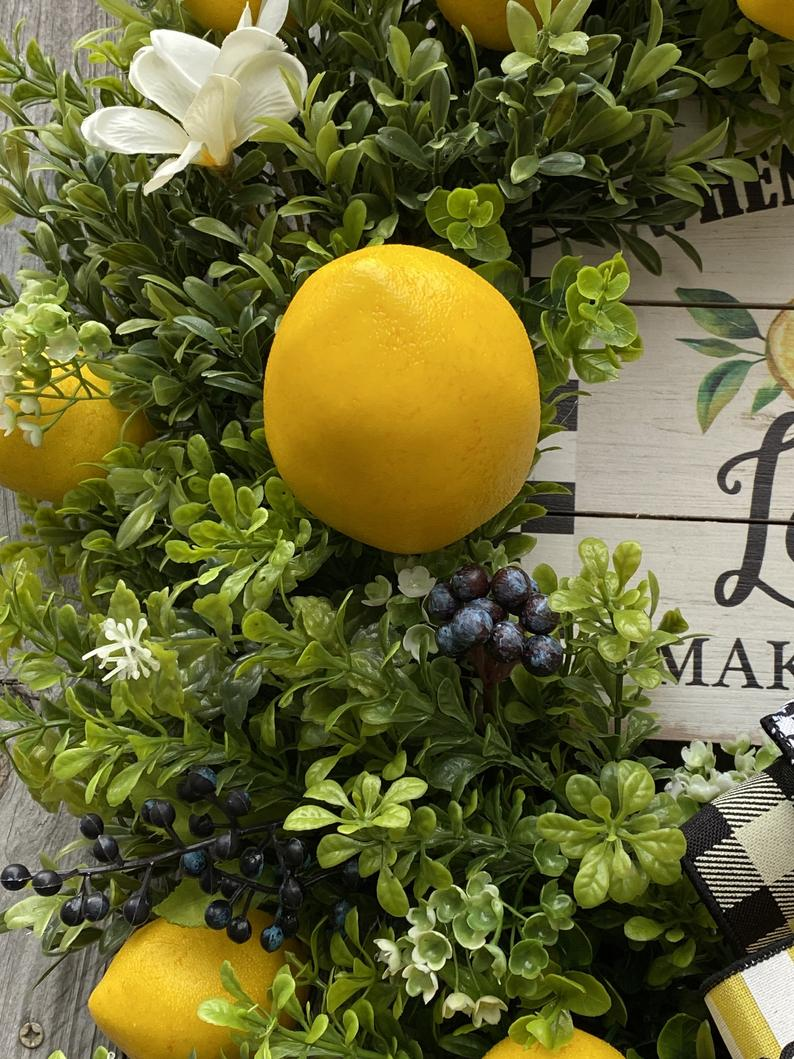 Valentine's Day Pre-sale Lemon Grapevine Wreath