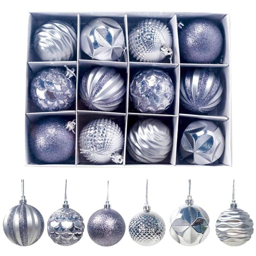 12/24Pcs 4cm Christmas Xmas Tree Ball Bauble Hanging Home Party Ornament Decor