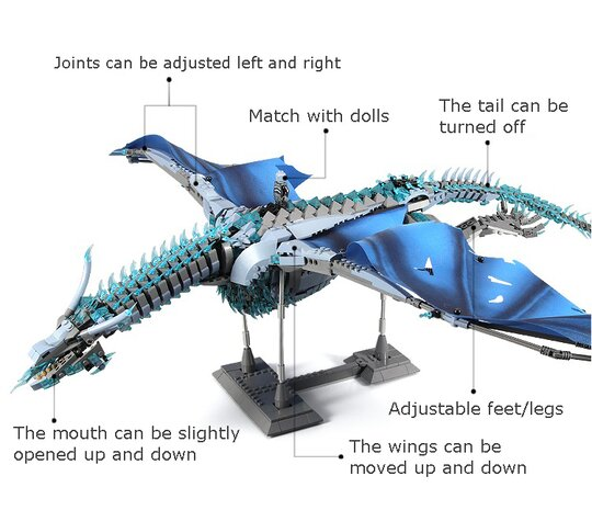 【FREE SHIPPING】Highly Difficult Giant Dragon Assembly Model