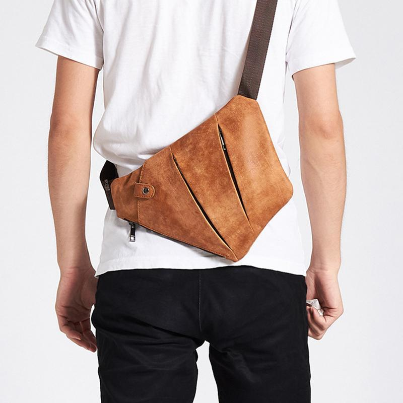 Men's Anti-theft Genuine?Leather Sling Bag