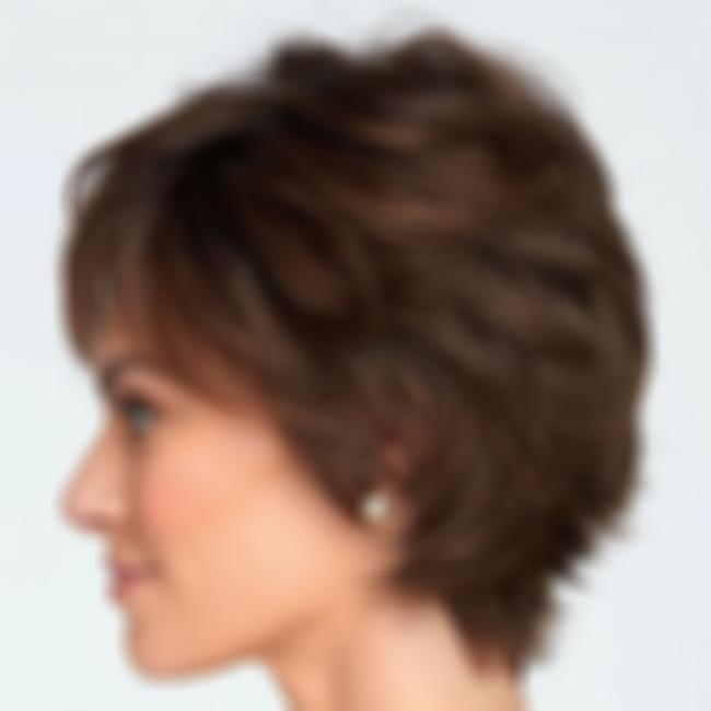 KAMI 009 Short Straight Synthetic Wig for Women Layered Human Hair