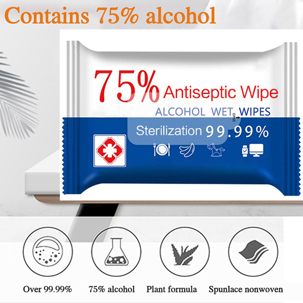 [In - stock]75% Alcohol Skin Care Wipes, Easy To Carry, Ship Within 24 Hours