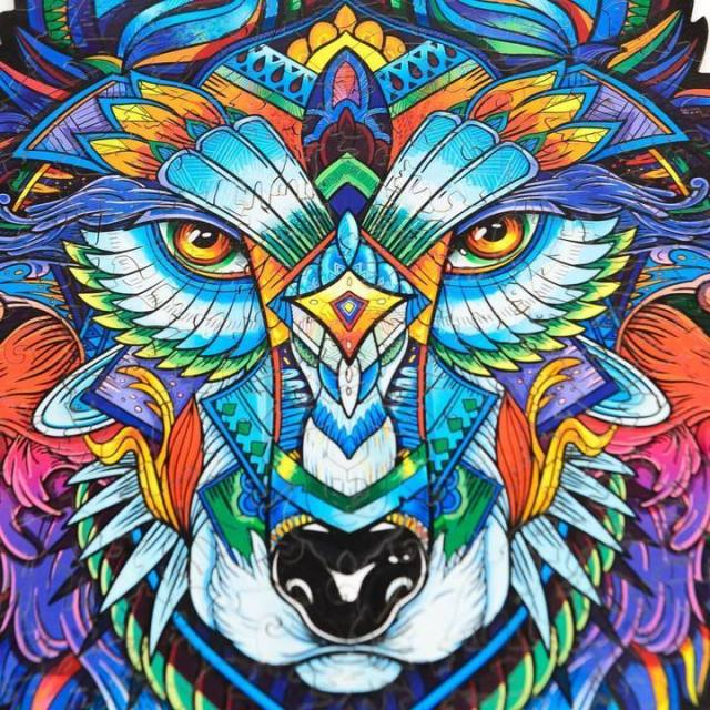 Magic Wooden Jigsaw Puzzle - Majestic Wolf🐺   Best Gift for Children
