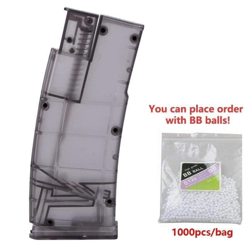 4 Colors Airsoft Plastic 500rd Shooting BB Speed Loader with 1000pcs BB Balls War Game Hunting Bullet Carrier