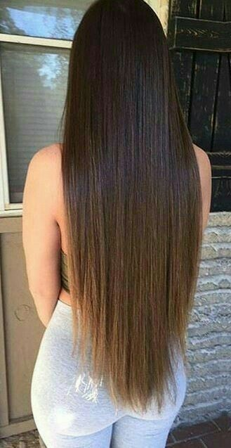 2020 New Straight Wigs Black Long Hair Straight Hair Black Girl Black To White Ombre Wig