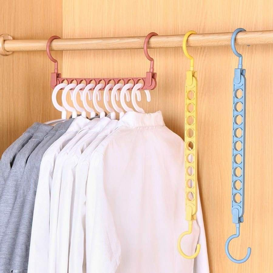 1/3/5 Pcs 360¡ã Rotation Nine-Hole Creative Magic Hanger Storage Anti-Skid Drying Rack
