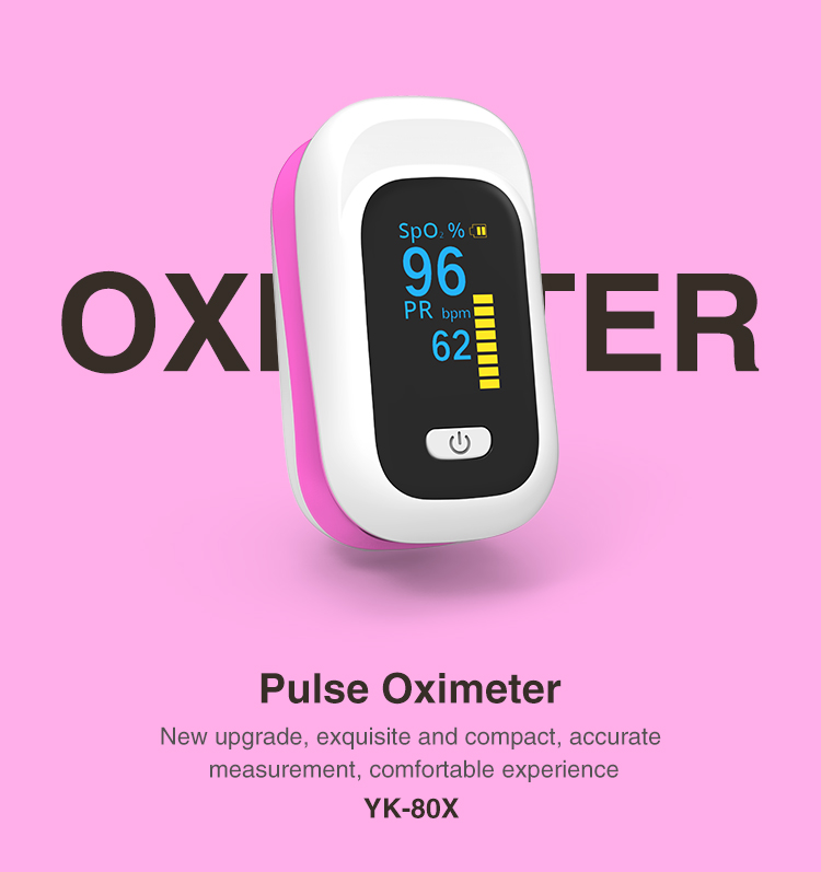 OLED Finger-Clamp Pulse Oximeter Home Heathy Blood Oxygen Saturation Monitor
