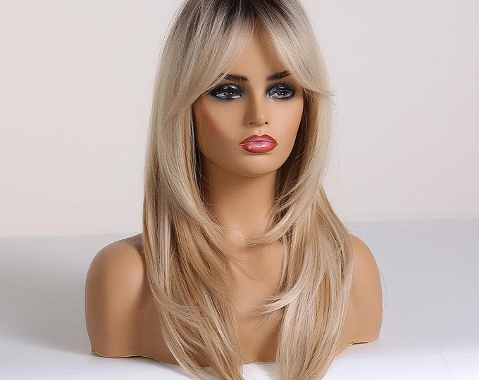 2021 New Lace Front Wigs Wavy Ombre Wig Red Gray Hair Ashy White Blonde Hair