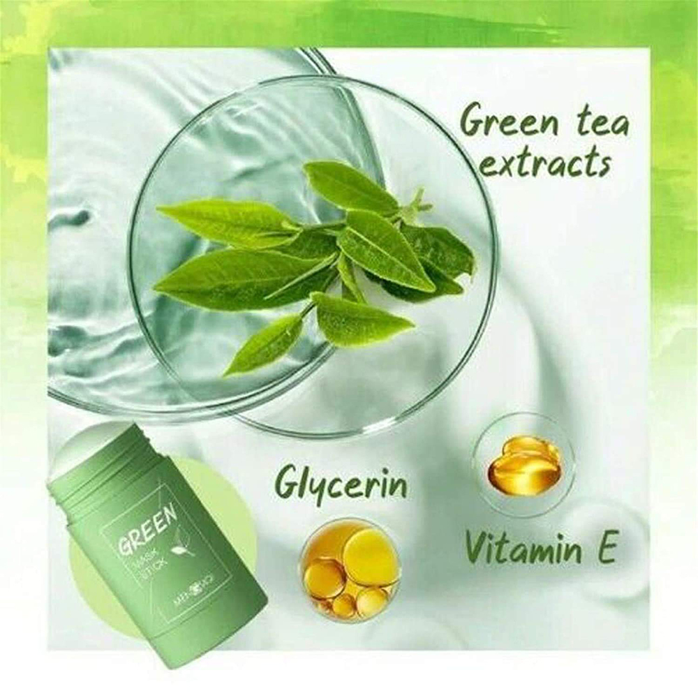🔥Buy 1 Get 1 Free-2021 New Green Tea/Eggplant Purifying Clay Stick Mask