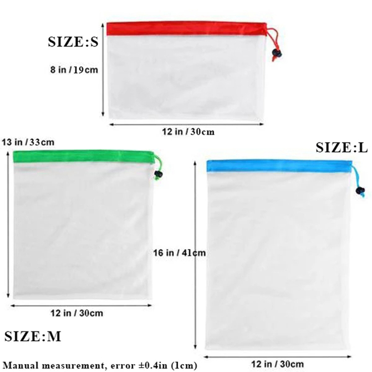 (Hot Sale Today! Up to 50% discount! ) 12 Pcs Reusable Produce Bags (BPA free)