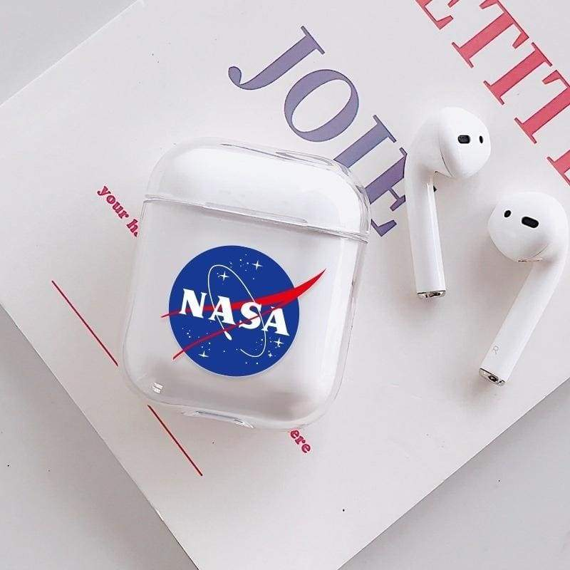 American NASA Astronaut Fashion Transparent Cover Case for Airpods1/2