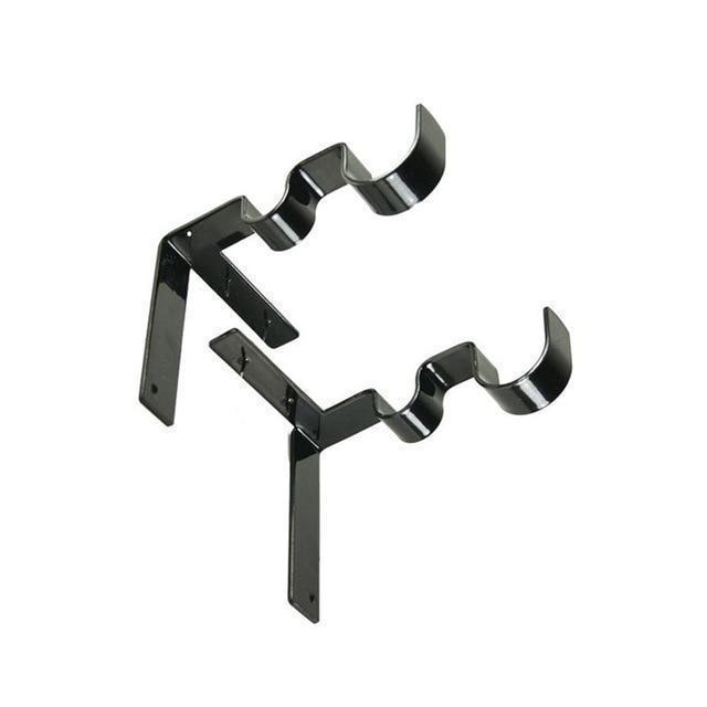 Double Center Support Curtain Rod Bracket 6 Pcs