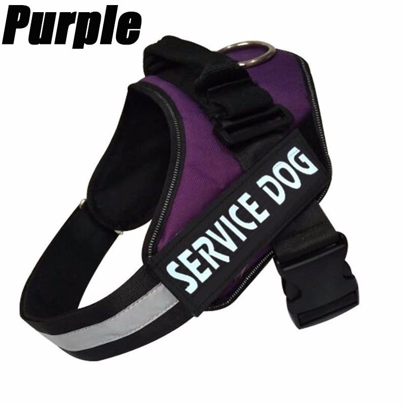 New Comfortable Reflective Service Dog Vest / Harness with Hook and Loop Straps Service Dog Harness Pet Training Vest with Reflective Patches for Large Medium Small Dogs From 12colour (Size:XXS-XXL)