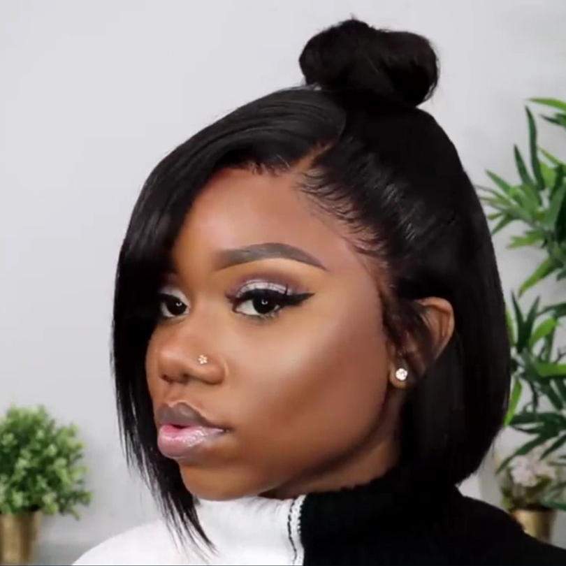 Special OFF| Natural Everyday Bob Basic Cap Lace Front Wig