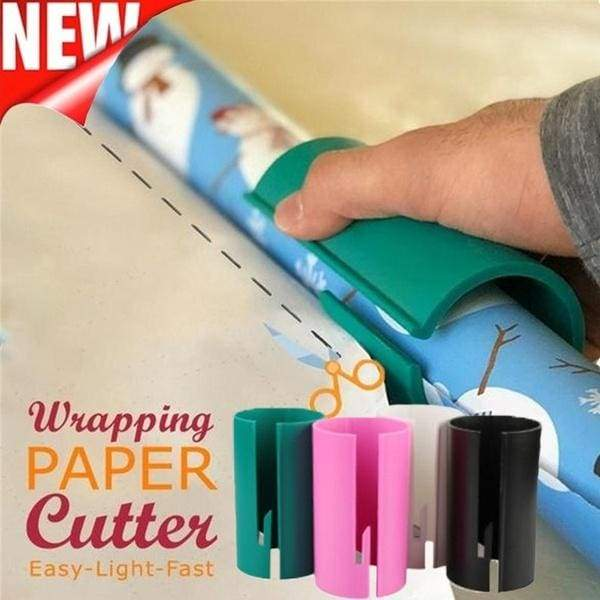 New Portable Sliding Wrapping Paper Cutter Christmas Gift Wrapping Paper Roll Cutter Tool Cuts The Prefect Line Every Single Time