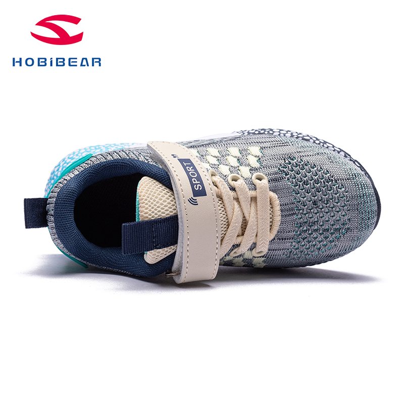 HOBIBEAR Brand Children Shoes Non-slip Kids Running Shoes Boys Fashion Breathable Sneakers big kid sneakers GS3723