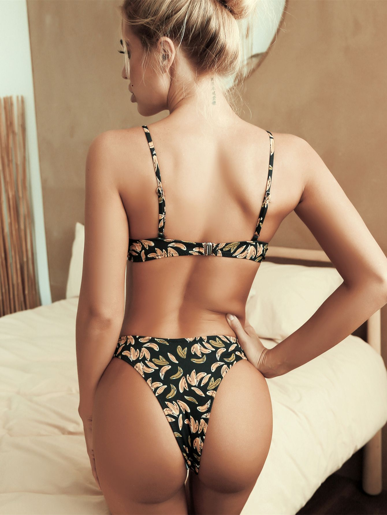 New fruit Print Bikini leopard swimwear