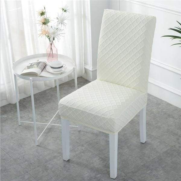 Elastic Chair Protector Slipcover Decor Modern Minimalist Home Chair Cover  Jacquard Diamond Elastic Solidcolor Chair Cover