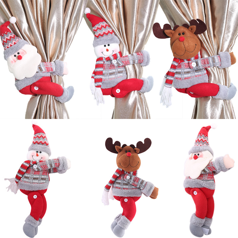 【Buy 2 get 1 free】Curtain Button Curtain storage Creative New Christmas Decorations Cartoon Doll Clasp