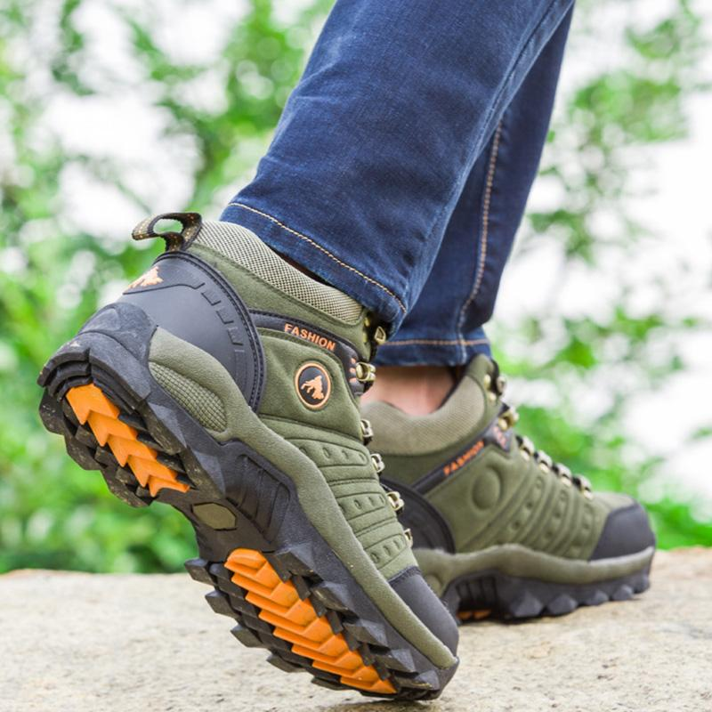 Men camping hiking shoes outdoor large size shoes