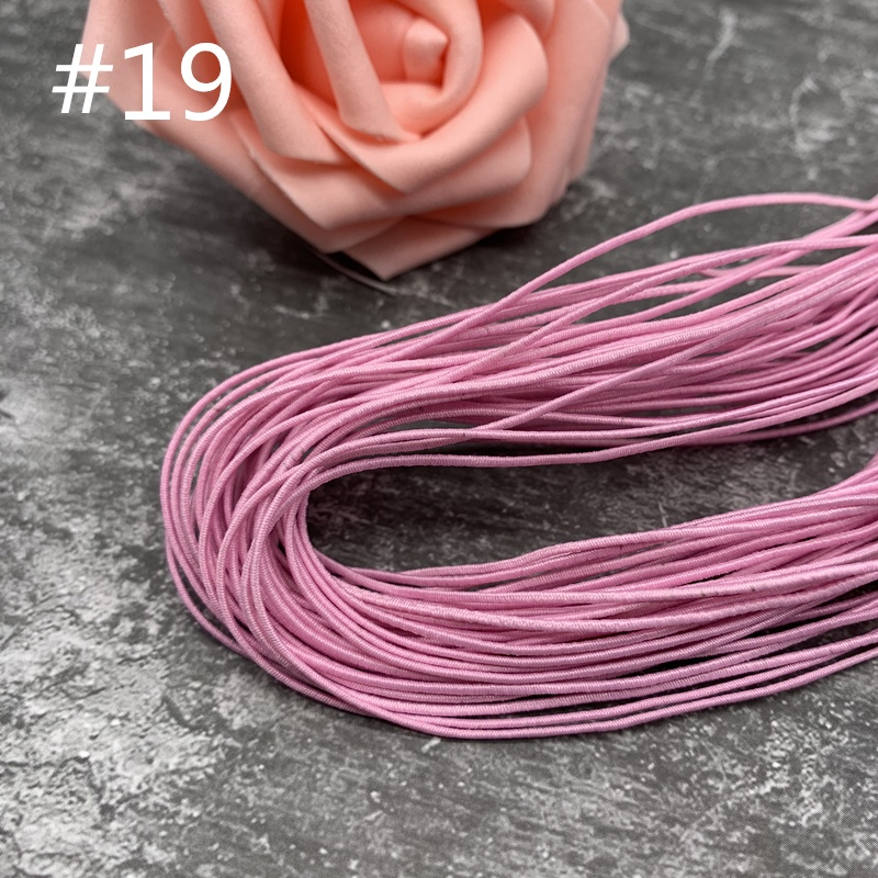 25 Meter 0.8mm Colorful High-Elastic Round Elastic Band Round Elastic Rope Rubber Band Elastic Line DIY Sewing Accessories