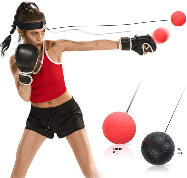 Boxing Reflex Ball, Boxing Punch Exercise Accessories Ball, Back Design for Reaction and Speed Improve