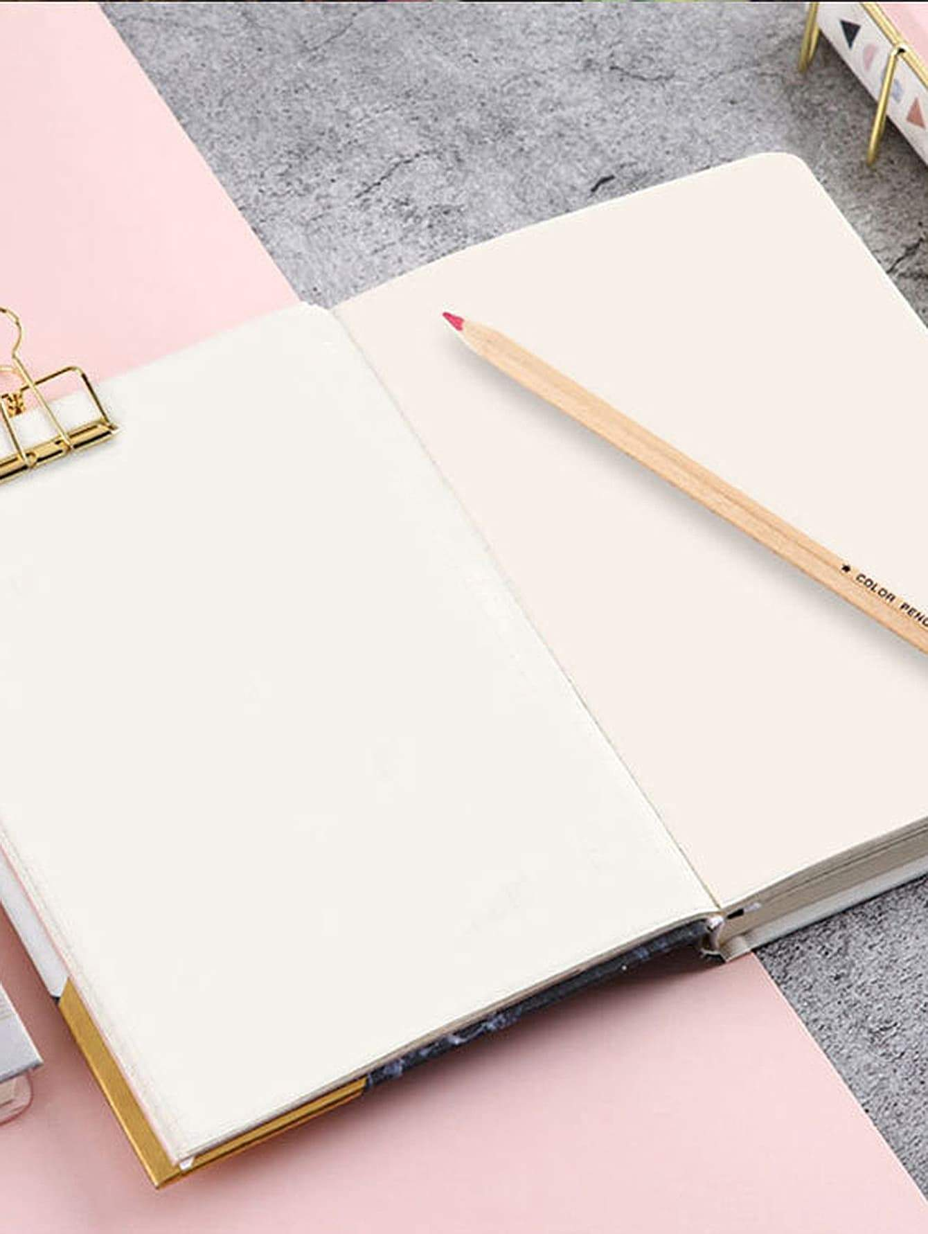 Marble Pattern Cover Notebook 1pc