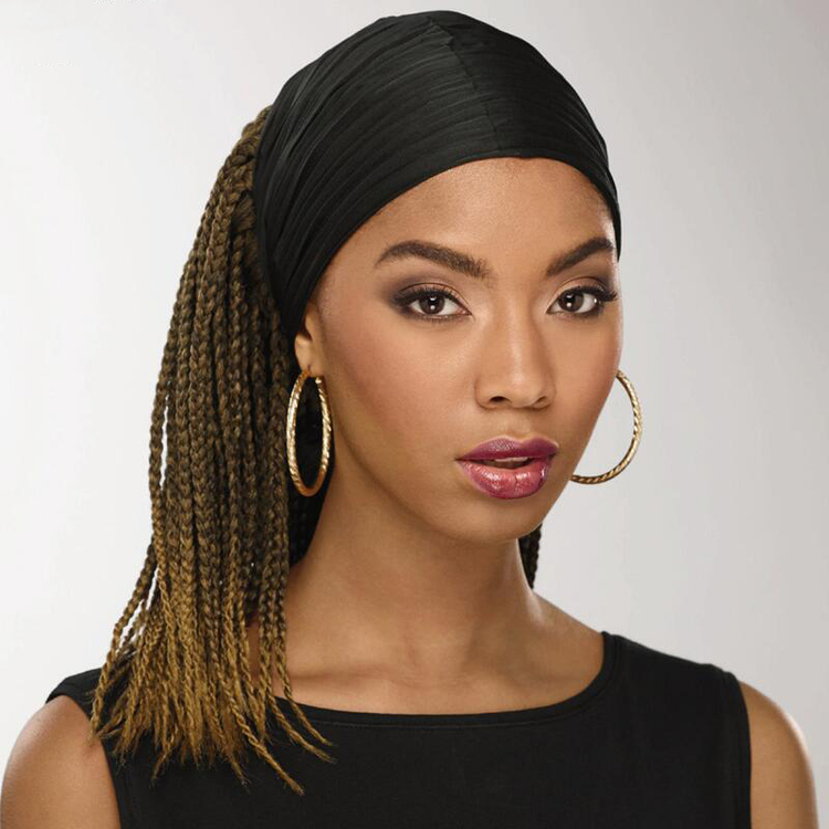 Human Hair Braid BOB Headband Wig(Free Headband)