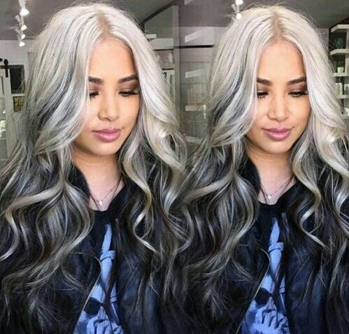 Gray Hair Wigs For African American Women Belle Delphine Wig Grey Hair Looks Grey With Purple Hair Makki Professional Grey Brown Wig With Bangs