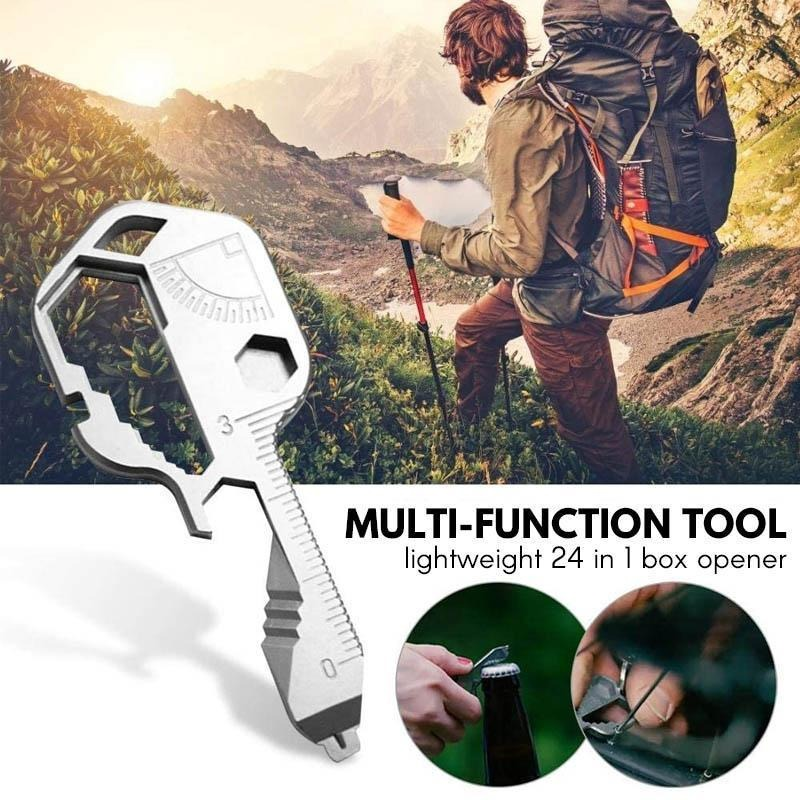 (Early Father's Day Promotions-50% OFF) 24 in 1 Key shaped pocket tool (BUY 2 GET 1 FREE NOW)