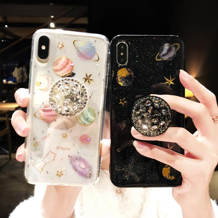 2019 [IPhone] Galaxy gorgeous Diamond pop socket