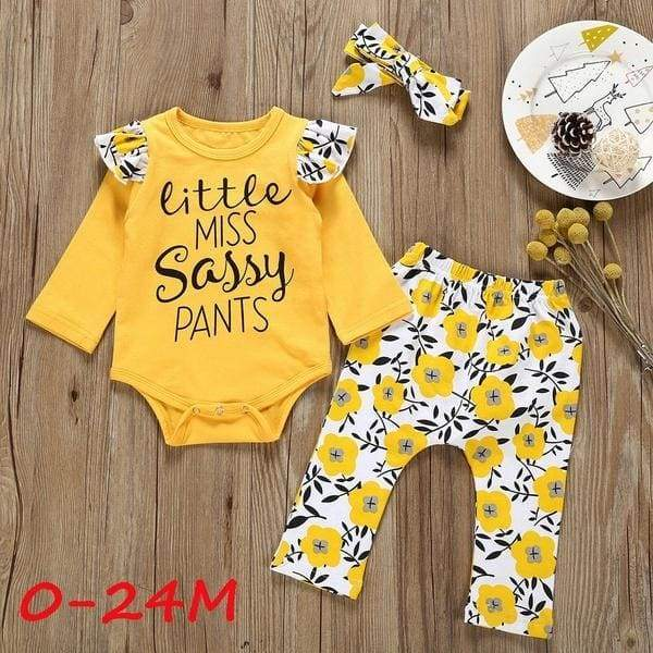 New Autumn Winter Fashion Cute Toddler BabyGirl Clothes Letter Romper+Floral Pants+Hairband Outfits Nouvelle Automne Hiver Mode Mignon Toddler B¨|b¨| Fille V¨otements Lettre Barboteuse + Pantalon Floral + Bandeau Tenues