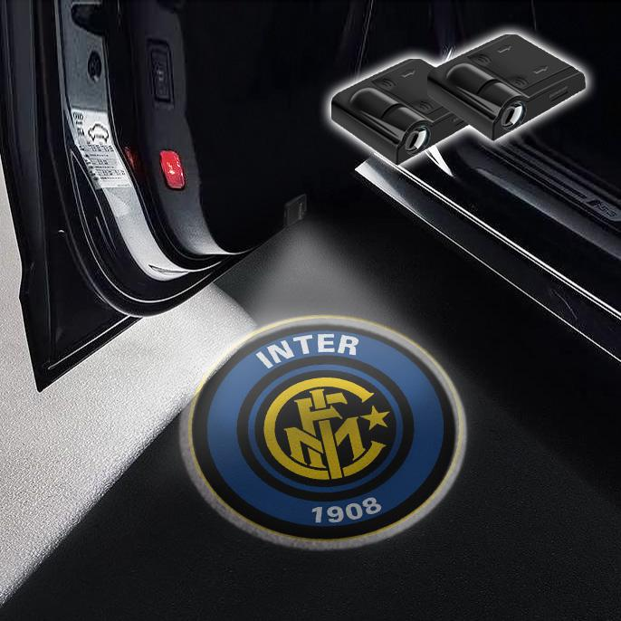 CarFitg Wireless Led Car Door Projector Puddle Logo Light - Inter Milan