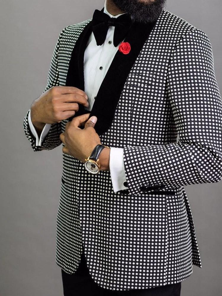 One Button Polka Dots Fashion leisure Suit