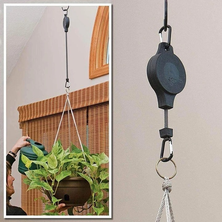 (❤️Mother's Day Flash Sale - 50% OFF)  Easy Reach Plant Pulley Set &15KG/33IB , BUY 3 GET 2 FREE