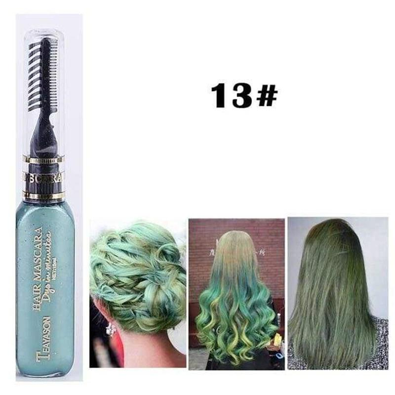 13 Colors Temporary Non-toxic Hair Color Dye Comb