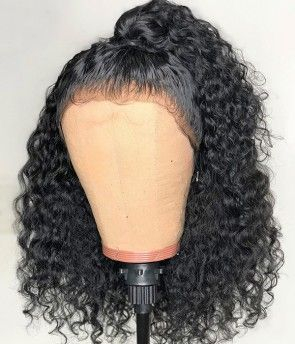 Lace Front Wigs Black Curly Hair Remy Hair Company Peruvian Hair Inches Short Human Hair Wigs
