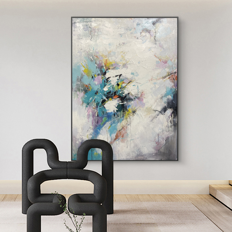 Hand-painted flowers abstract oil painting artist home decorative art abstract canvas oil painting