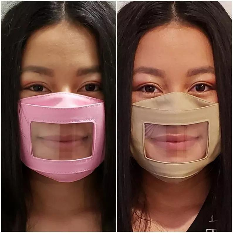 Copy ANTI-FOG Adults/Kids Clear Mask ***Our Mask Will Not Fog Up When You Speak*** Adjustable Straps - Read Lips & Expressions