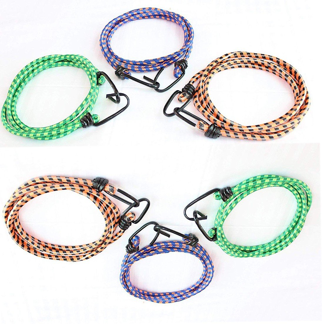 MGP Fashion HighElastic Rope Bungee Shock Cord Cable Luggage with Hook Green,Blue,Brown  (Length: 2 m, Diameter: 10 mm)