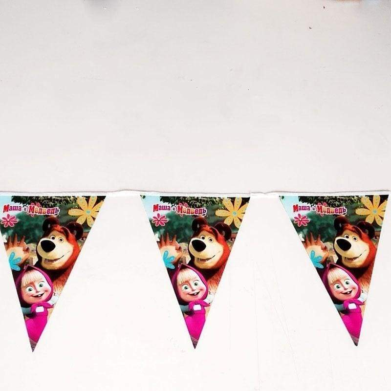 2.5M Masha and Bear Party Banner Triangle Flag