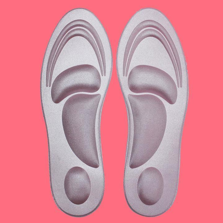 4D Tailorable Breathable Unisex Soft Sponge Insoles for Men/Women
