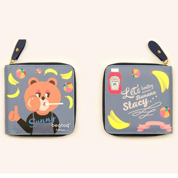 Cute Cartoon Kerean Chic Fashion Short Wallet